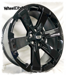 24 Inch Gloss Black 2017 Chevy Rally Oe Replica Rims Cadillac Escalade 6x5 5 4x