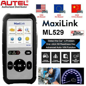 Autel Ml529 Check Engine Light Obd2 Full Function Tester Car Code Reader Scanner