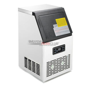 Automatic 150lb Ice Maker Machine Air Cooling Timer Self cleaning Lcd Panel