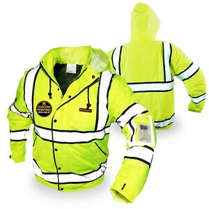 Kwiksafety Marshal Hi Vis Ansi Class 3 Safety Jacket With Waterproof Id Pocket