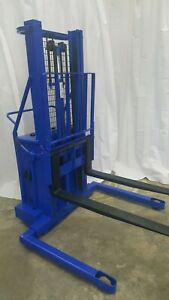 Blue Giant Manual Push Truck Pallet Stacker Lift Forklift