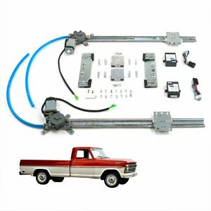 67 72 Ford F 100 F 250 Pickup Flat Glass One Touch Power Window Conversion Kit