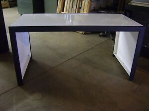 Black White Metal Retail Nesting Display Tables Set 3