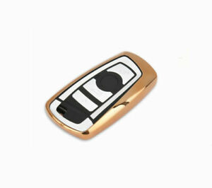 Golden Tpu Car Remote Control Key Case Cover For 1 3 5 6 7 Series A Key To Start