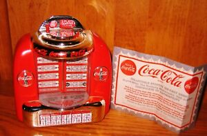 1995 Enesco Coca Cola Table Top Jukeboxs Music Box  - NEW with box