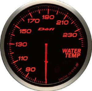 Defi Advance Bf 60mm Water Temperature 68 To 248 Degf Amber Red Df10504