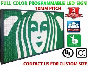 Open Led Signs 12 X 38 Full Color Indoor Programmable Text Shop Store Display