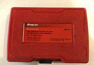 Snap On Bolt Extractor Set Bex13 Never Used