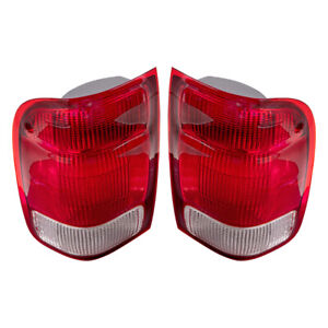 Pair Tail Lights Fit 2000 Ford Ranger Pickup Truck Tail Lamps Set Lens Housing