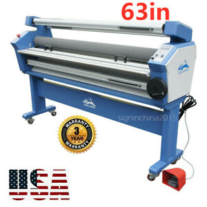 110v 63 Full auto Wide Format Cold Laminator Machine With Heat Assisted Us