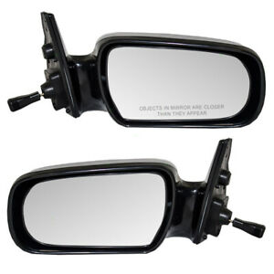 Fits Toyota Camry 87 91 Set Of Side View Manual Remote Mirrors Glass W Housing