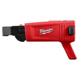 Milwaukee Collated Drywall Screw Gun Attachment Tight Corner Power Tool Red
