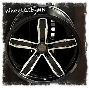 20 X10 Inch Gloss Black Machine Chevy Camaro Iroc Oe Replica Wheels 5x120 20
