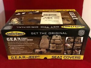 Smittybilt 5661031 Front Gear Seat Cover Olive Green For 1987 2017 Jeep Wrangler