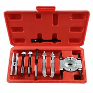 Mini 9pc Bearing Puller Separator Kit 30 50mm Pull Out Jaw Gear Pulley Removal