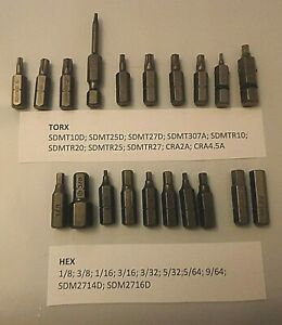 Save 75 20 Piece Snap on Torx Hex Bit Set see Sizes In Picture