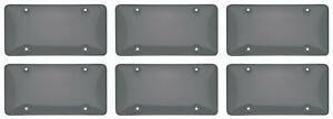 Cruiser 72200 License Plate Cover Bubble Shield Smoke Acrylic 6 Pack
