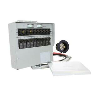 Manual Transfer Switch 30 Amp 10 Circuit For Use With Portable Generators