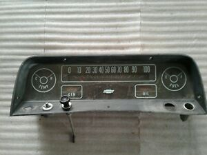 1963 Chevy Chevrolet C 10 Pick Up Truck Gauges Instrument Cluster Speedometer
