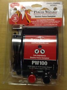 Power Wizard Pw100 110v Plug in Electric Fence Charger Please Read