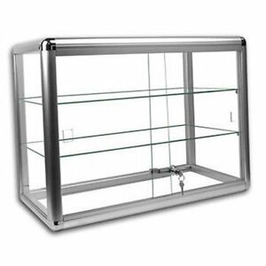 Only Hangers Elegant Silver Anodized Aluminum Countertop Showcase