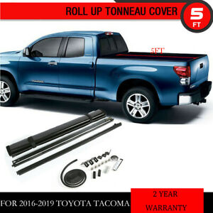 Soft Roll Up Tonneau Cover For 2016 2019 Toyota Tacoma 5ft 60 truck Bed