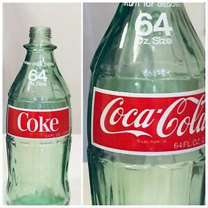 Coca-Cola Vintage Bottle Glass 64 Oz Soda Large Coke Bottle Collectible