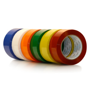 Primetac Packing Tape 2in X110yd Blue Red Yellow Orange Green white 6 Rolls