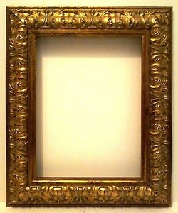 12 X 16 Standard Picture Frame 3 1 2 Wide Gold Leaf Carved Reverse Canvas Allow