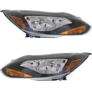 Headlight Lamp Left and right Fo2502299c Fo2503299c Lh Rh For Ford Focus