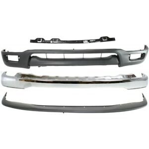 To1002174 To1065101 To1087112 To1095196 Kit Bumper Face Bar Chrome Front