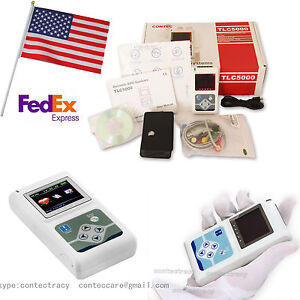 Tlc5000 12 Channels 24hours Ce Fda Dynamic Ecg Ecg Systems With Recorder sw us