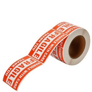 1 Roll 3 X 5 Fragile Handle With Care Stickers 500 Per Roll