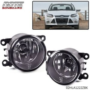 Clear Lens Driving Fog Lights Bumper Lampsbulbs Fit For Ford Focus 12 14 Fits 2012 Ford Focus