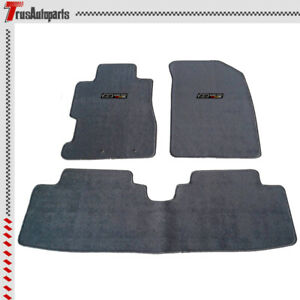 For 01 05 Civic 02 05 Honda Civic Si Gray Nylon Floor Mats Oe Fitment Carpets