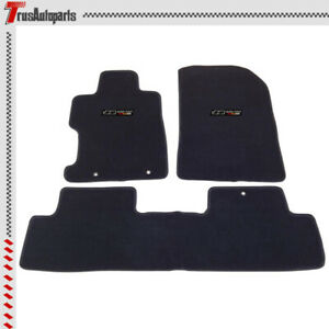 For 06 11 Honda Civic Floor Mats 2 4dr Front Rear Black Nylon Non slip Carpets