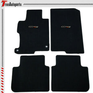 For 13 17 Honda Accord Front Rear Black Nylon Floor Mat Non slip Carpets 4pc Set