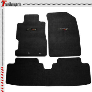 For 01 05 Civic 02 05 Honda Civic Si Black Floor Mat Front Rear Carpet Set 3pc