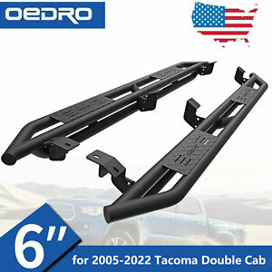 6 Tri Tube Armor Side Steps Heavy Running Boards For 05 21 Tacoma Double Cab