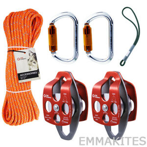 Tree Climbing Pulley System Kit Block And Tackle For Tree Working Arborist