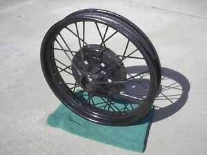 Model A Ford Spoke Wheel Sand Blasted Painted Nice Condition Black 21x3