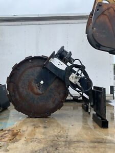 Trench Grader Sp42 Skid Steer Vibratory Compaction Wheel 10 000lbs Trencher