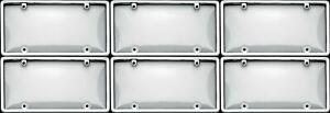 Cruiser 60310 License Plate Cover Chrome Clear Plastic 6 Pack