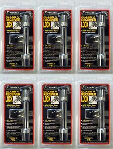 Trimax Locks T5 Trailer Hitch Pin Barbell Type With Key Lock 6 Pack