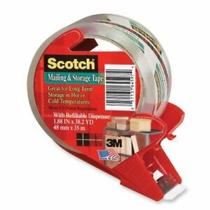 3m 3650s rd 2 X 55 Yds Clr Scotch Super Packing Tape W dispenser