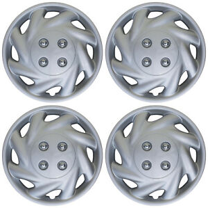 4 Piece Set Hub Cap Abs Silver 14 Inch For Oem Steel Wheel Cover Caps Covers