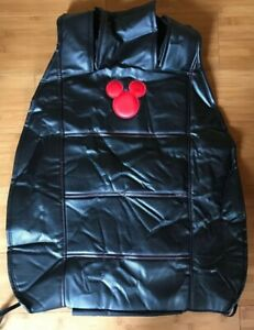 Mickey Mouse Car Sideless Seat Cover Disney Black Design Cargo Pocket Back Only