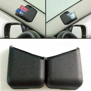 2x Universal Black Car Organizer Storage Bag Box Phone Holder Car Accessories