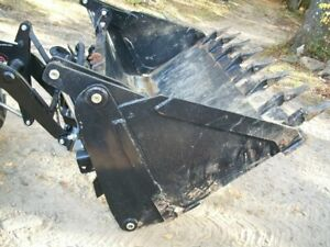 66 4 in 1 Combination Multi Purpose Tooth Skid Steer Bucket Attachment