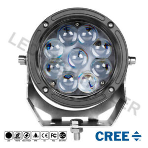 5 5 Cree Round Led Work Lights Bull Bar Driving Pods Truck Off Road 4wd 12v 6